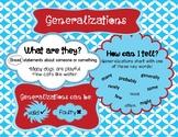 Generalizations Anchor Chart