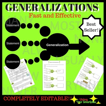 Making Generalizations with Monsters Activities Tiered by Alissa ...
