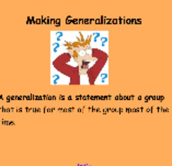 Generalizations - Faulty or Valid