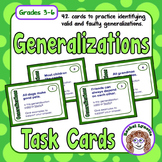 Generalizations Task Cards: Valid or Faulty