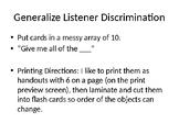 Generalize Listener Discriminations