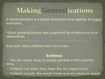 Making Generalizations/Generalizing Unit Plan