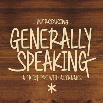 Generally Speaking Font for Commercial Use
