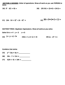 Generate Equivalent Expressions and General Algebra Review