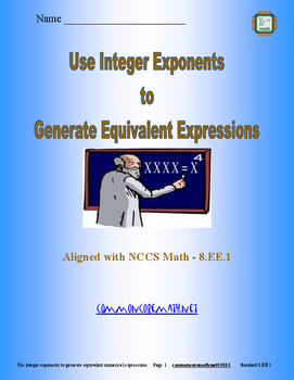 Generate Equivalent Expressions from Integer Exponents - 8.EE.1