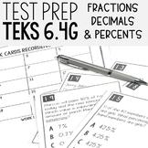 Generate Equivalent Fractions Decimals & Percents TEKS 6.4G