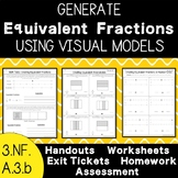 Generate Equivalent Fractions Using Visual Models - 3.NF.A.3.b