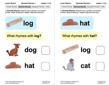 Generate Rhymes 1: Lesson 1, Book 5 (Newitt Prereading Series)