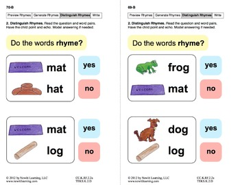 Generate Rhymes 2: Lesson 6, Book 5 (Newitt Prereading Series)