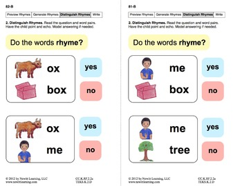 Generate Rhymes 2: Lesson 7, Book 5 (Newitt Prereading Series)