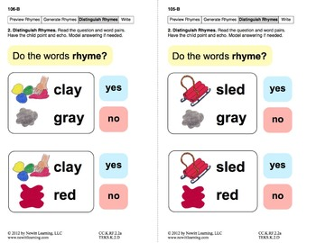 Generate Rhymes 2: Lesson 9, Book 5 (Newitt Prereading Series)