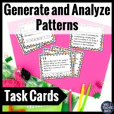 Generate and Analyze Patterns Task Cards 4.OA.5