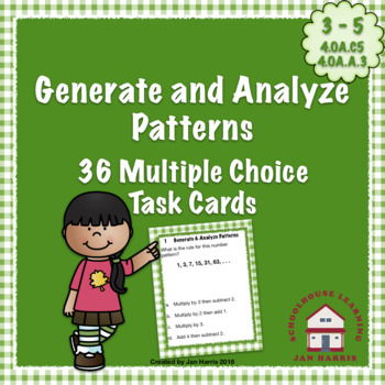 Generate and Analyze Patterns Task Cards