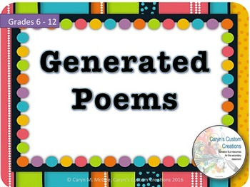 Generated Poems