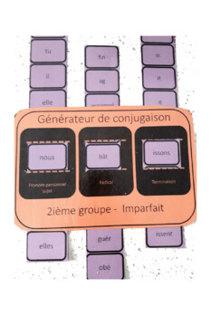 Générateur de conjugaison - 2e groupe (French FSL FLI)