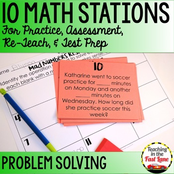 Generating Addition and Subtraction Problems Within 1000 Math Stations