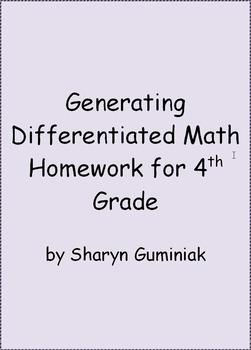 Generating Differentiated Math Homework for 4th Grade