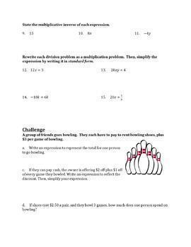Generating Equivalent Expressions Part 2 Worksheet