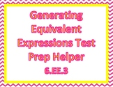 Generating Equivalent Expressions Test Prep Helper 6.EE.3