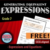 Generating Equivalent Expressions Worksheet