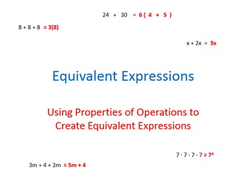 Generating Equivalent Expressions by Applying Properties o