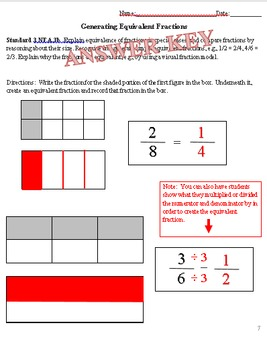 Equivalent Fractions with Models