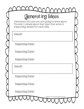 Generating Ideas FREEBIE!