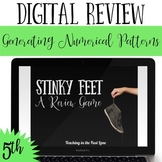 Generating Numerical Patterns Review Game Stinky Feet