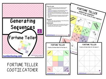 Generating Sequences (Fortune Teller/Cootie Catcher)