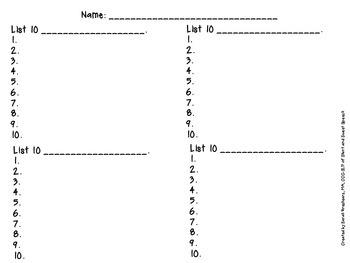 Category Naming Worksheets