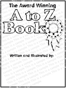 end of year generic a to z book cover blank for all grades subjects