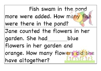 Generic Addition word problems