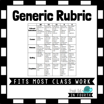 Generic Assignment Rubric