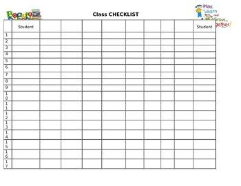 Generic Back to School Checklist