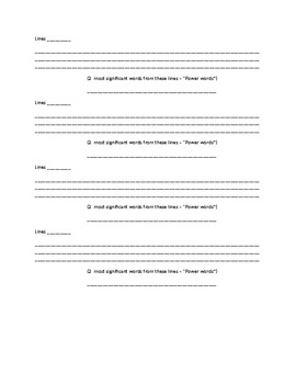 Generic Beowulf Paraphrasing Worksheet for and Section