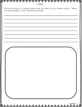 Generic Blank Biography Research Flip Book For Any Historical Figure, Activities