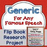 Generic Blank Research Flip Book For Any Famous Speech, Activities