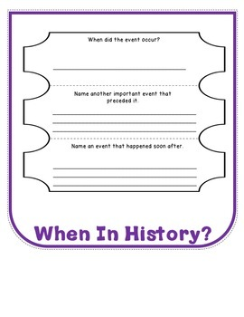 Generic Blank Research Flip Book For Any Historical Document, Activities