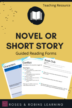 Generic Book Club Forms - Focus on Plot Structure