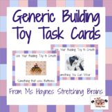 Generic Building Toy Task Cards for Makerspace, Morning Wo