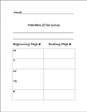 Generic Editable LITERATURE CIRCLE Weekly Work Pages