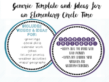 Generic & Editable Template for Elementary / Special Ed. C
