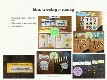 Generic & Editable Template for Math Lesson for Special Education Classroom