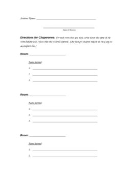 Generic Field Trip worksheet