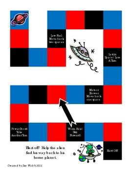 Generic Game Board: Space Theme