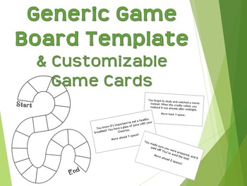 Generic Game Board Template with Customizable Question Cards