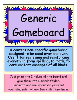 Generic Gameboard FREEBIE