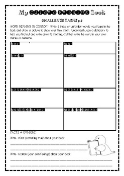 Generic Guided Reading Tasks- Differentiated
