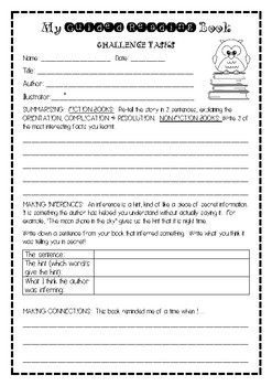 Generic Guided Reading Tasks- Extension