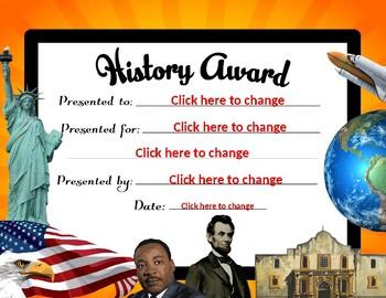 Generic History Award